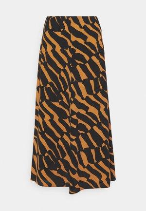 AARNIMETSÄ KIIKARI SKIRT - A-line skirt - brown/black