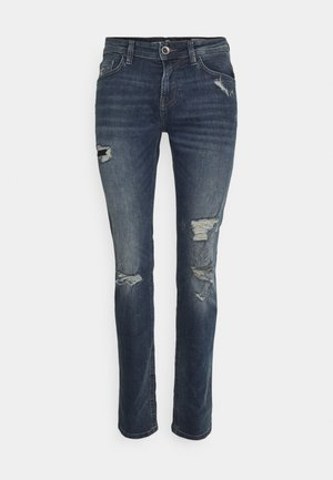 PIERS - Slim fit jeans - destroyed mid stone blue denim