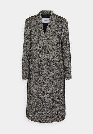 COAT - Classic coat - black / ecru mouline