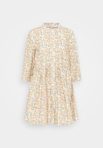 ONLCHICAGO MARK FLOWER DRESS - Kjole - cloud dancer