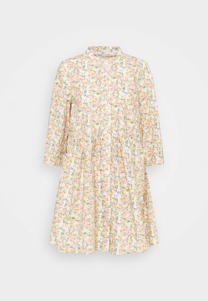 ONLY - ONLCHICAGO MARK FLOWER DRESS - Denní šaty - cloud dancer
