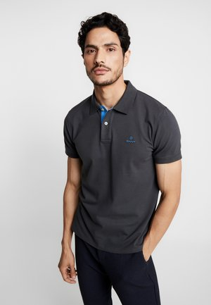 CONTRAST COLLAR RUGGER - Polo shirt - dark graphite