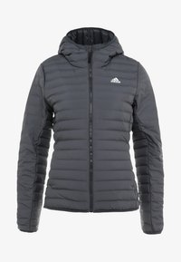 adidas Performance - VARILITY SOFT HOODED OUTDOOR DOWN JACKET - Winter jacket - carbon - 5