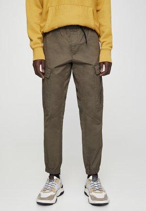 Pantaloni cargo - dark green