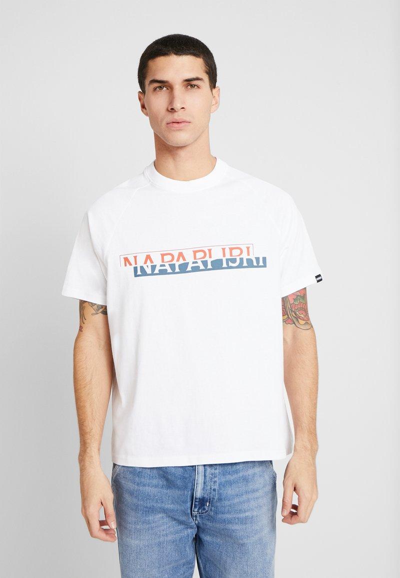 Napapijri The Tribe - SIRE - T-shirts print - bright white