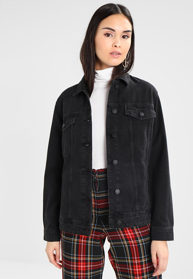 NMOLE JACKET - Denim jacket - black