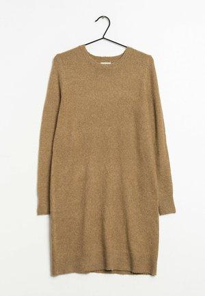 Gebreide jurk - brown