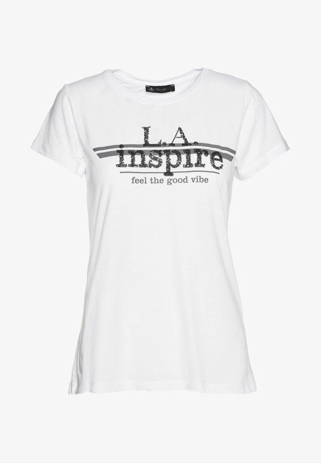 L A INSPIRE - Print T-shirt - weiß