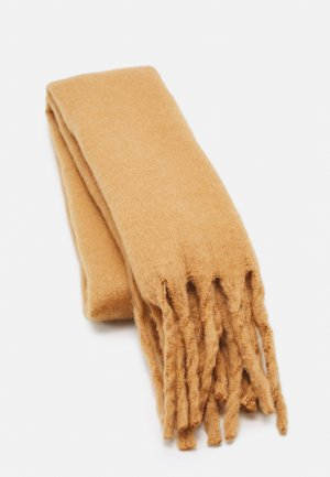 SCARF BIG FRINGE - Sjaal - dark dusty beige