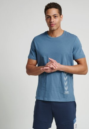 DUNCAN  - Print T-shirt - china blue
