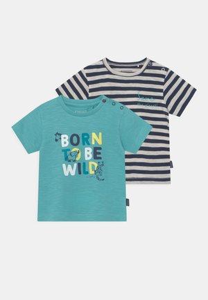 BABY 2 PACK - T-shirt print - light blue/dark blue