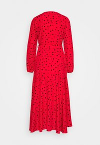 Wallis Petite - CORAL SPOT WRAP MIDI - Day dress - red - 1