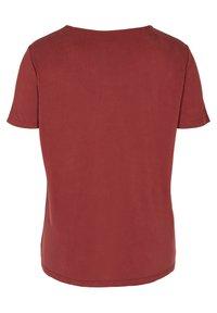 Zizzi - Basic T-shirt - madder brown - 5