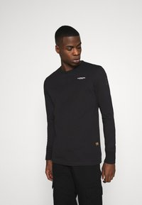 G-Star - BASE R T L\S - Long sleeved top - compact jersey o - dk black - 0