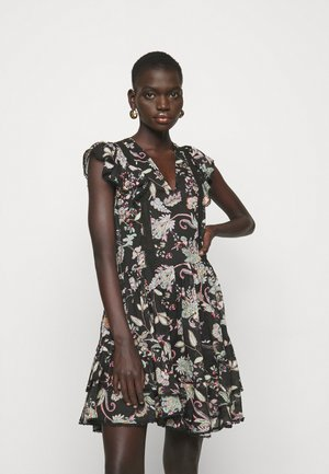 ABITO STAMPA FIORI - Day dress - nero