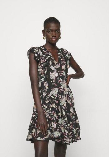 ABITO STAMPA FIORI - Day dress - nero