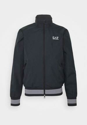 Blouson Bomber - dark blue/white