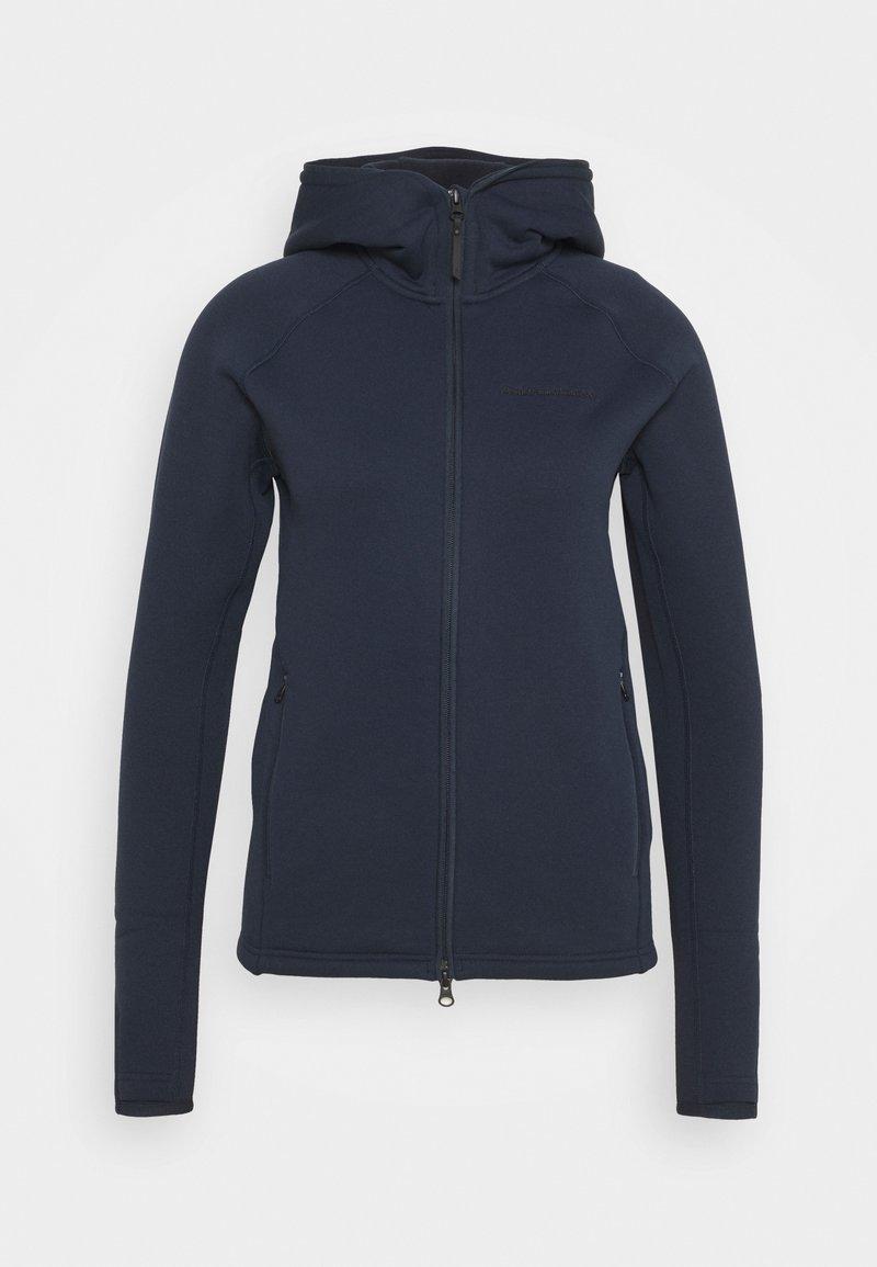 Peak Performance - CHILL ZIP HOOD - Fleece jacket - blue shadow