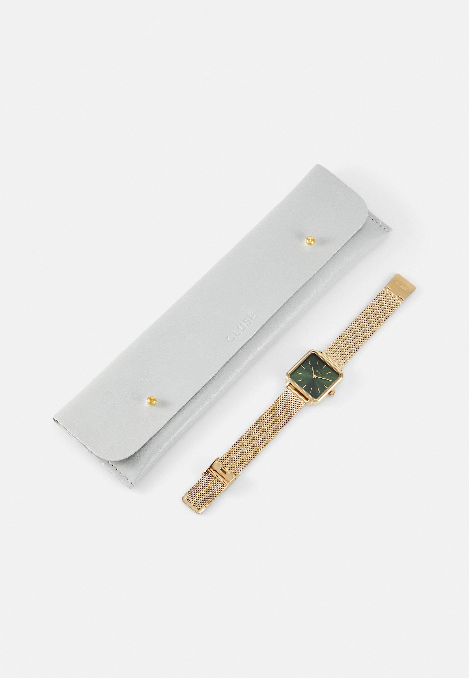 Cluse LA TÉTRAGONE - Klokke - gold-coloured/forest green/gull 2Lbi6JdSLkB2QDK