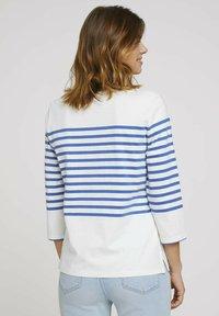 TOM TAILOR DENIM - Long sleeved top - blue white - 2