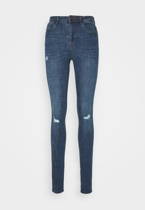 VMTANYA PIPING RAW  - Jeans Skinny - dark blue denim