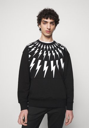 FAIR ISLE THUNDERBOLT - Sweatshirt - black/white