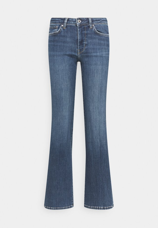 AUBREY - Flared jeans - denim