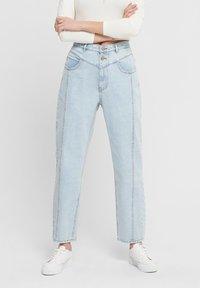 ONLY - STRAIGHT FIT JEANS ONLISLA LIFE MID ANKLE - Straight leg jeans - light blue denim - 4