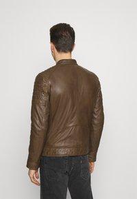 Strellson - DERRY - Leather jacket - tobacco - 2