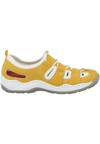 Rieker - Casual lace-ups - yellow/pure white - 4