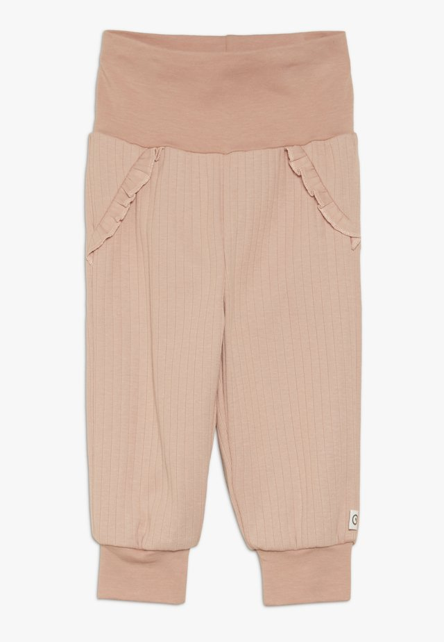 COZY FRILL PANTS BABY - Trousers - dream blush