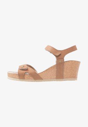 JULIA BASICS - Platform sandals - cognac