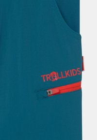 TrollKids - KJERAG ZIP OFF  2-IN-1 UNISEX - Outdoor trousers - petrol/spicy red - 3