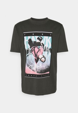 HAK UNISEX - T-shirt print - raven