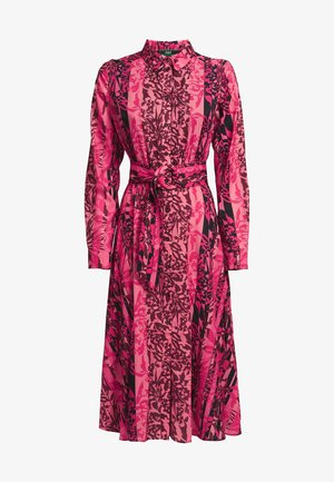 Shirt dress - mehrfarbe rose