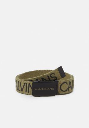 LOGO BELT UNISEX - Pásek - olive/khaki