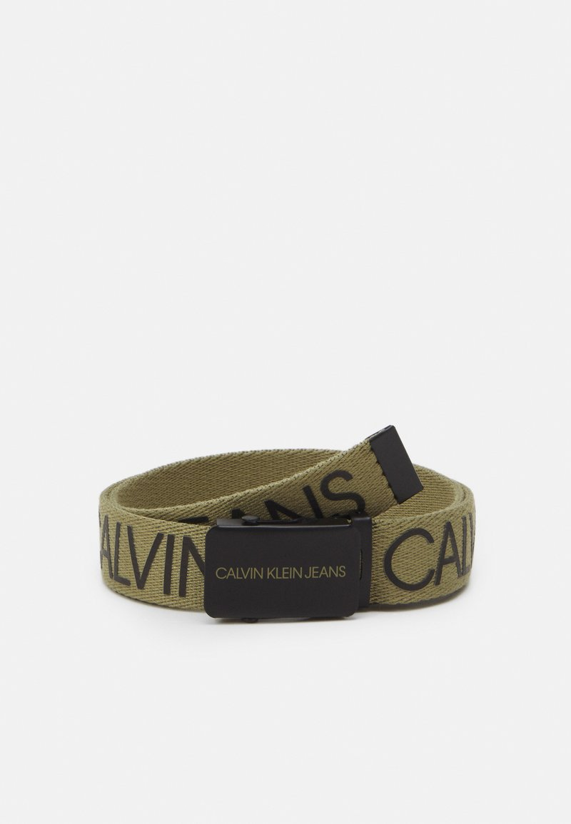 Calvin Klein Jeans - LOGO BELT UNISEX - Belt - olive/khaki
