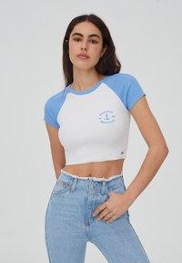 PULL&BEAR - T-shirt imprimé - white - 0
