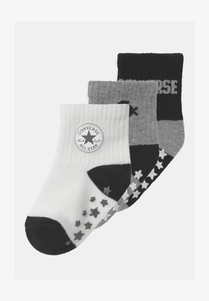 CONVERSE LOGO INFANT TODDLER QUARTER 3 PACK UNISEX - Calze - black