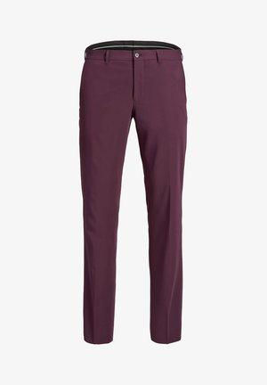 Pantaloni eleganti - dark red