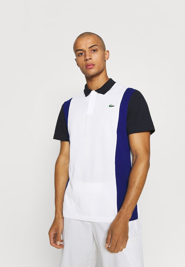 BLOCK - Poloshirt - weiß/blau/navy blau
