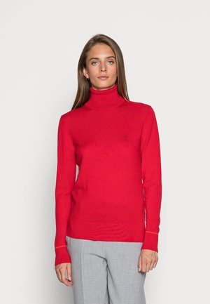 ROLL NECK - Jumper - racing red