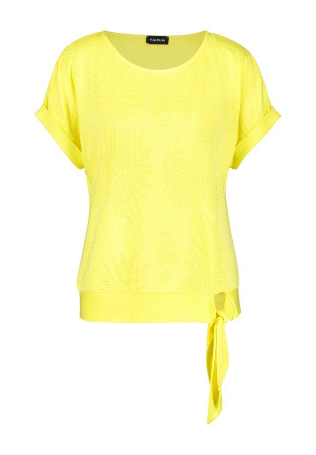 KNOTEN-DETAIL - T-shirt basique - lemon sorbet