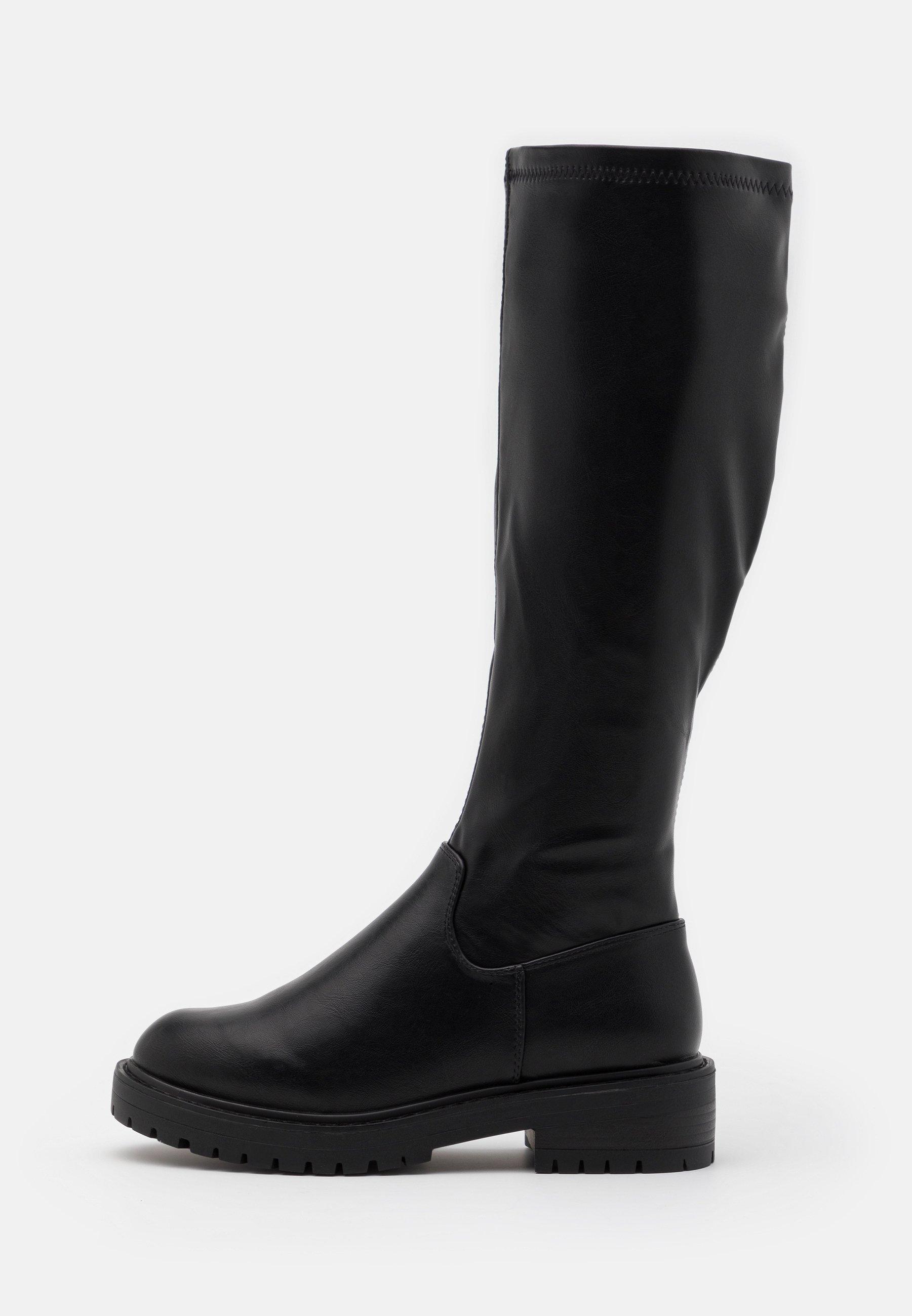 New Look Wide Fit Bounce Chunky Stretch - Stiefel Black/schwarz