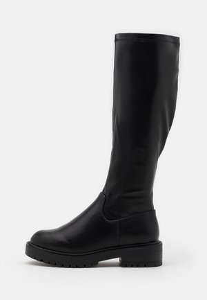 WIDE FIT BOUNCE CHUNKY STRETCH - Boots - black