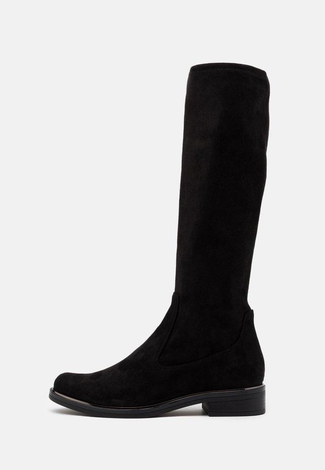 BOOTS - Vysoká obuv - black