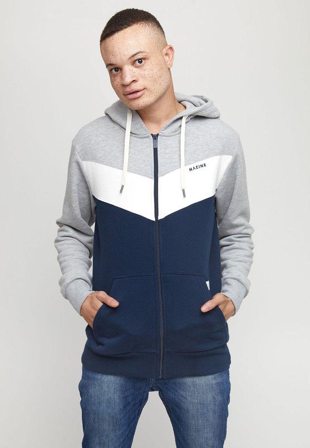 BANHAM - veste en sweat zippée - grey melange/navy