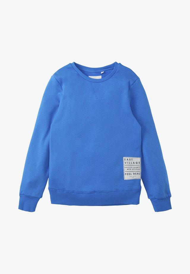 MIT PRINT-BADGE - Sweatshirt - strong blue|blue
