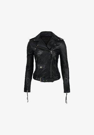 MILENA - Leather jacket - schwarz