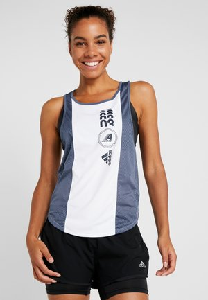 CLIMACOOL WORKOUT GRAPHIC TANK - Top - white/tech ink